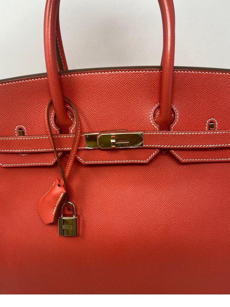 Hermes Rose Jaipur Candy Birkin 35 Bag For Sale 1