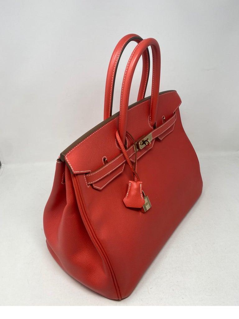 Hermes Rose Jaipur Candy Birkin 35 Bag For Sale 2
