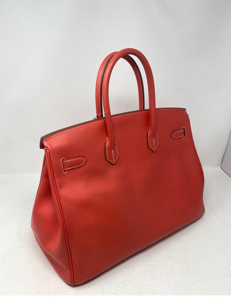Hermes Rose Jaipur Candy Birkin 35 Bag For Sale 4