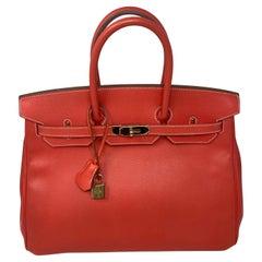 Hermes Rose Jaipur Candy Birkin 35 Bag