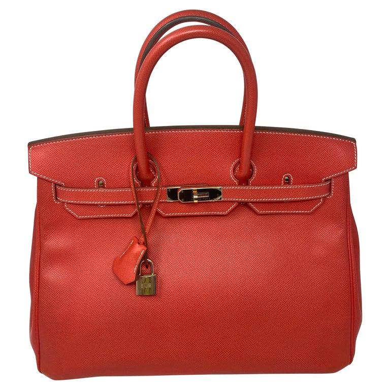 Hermes Rose Jaipur Candy Birkin 35 Bag For Sale