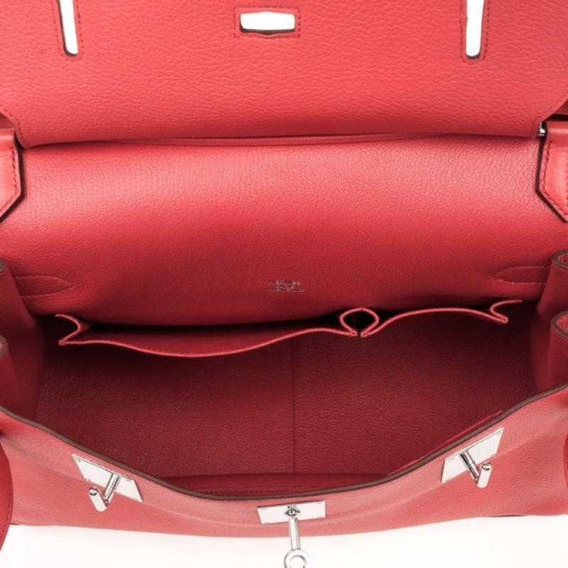 117a6e534a92 Hermes Rose Jaipur Taurillon Clemence Leather Jypsiere 34 Bag For Sale at  1stdibs