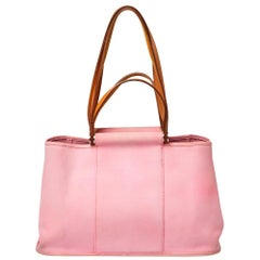 Hermes Rose Pink Canvas Cabag Elan Tote