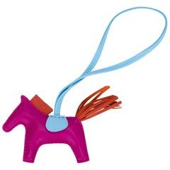 Hermes Rose Pourpre Horse Bag Charm