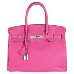 Hermès Rose Pourpre Togo Birkin 30 PHW