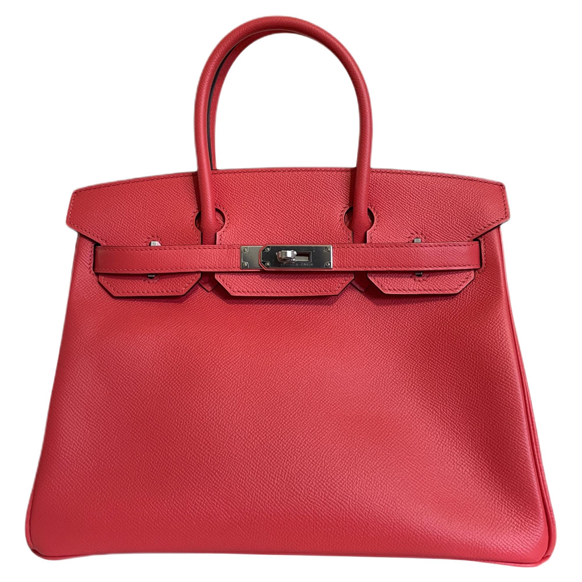 Hermès Rose Red 30 cm Epsom Birkin Bag