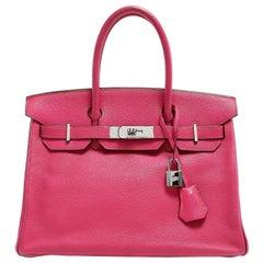 Hermès Rose Shocking Chevre Leather 30 cm Birkin Bag