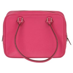 Hermès Rose Shocking Chevre Mysore Leather Plume 20cm