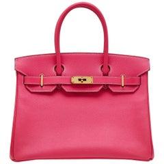 Hermes Rose Tyrien 30cm Birkin Bag