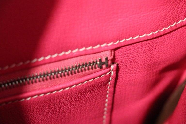Hermès Rose Tyrien Epsom 35 cm Birkin Bag For Sale 5