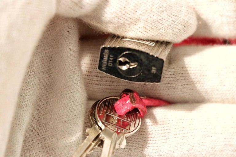 Hermès Rose Tyrien Epsom 35 cm Birkin Bag For Sale 6