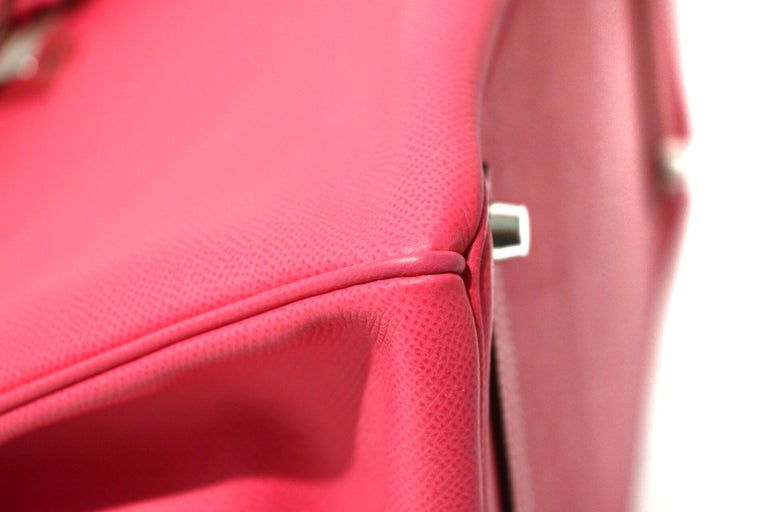 Hermès Rose Tyrien Epsom 35 cm Birkin Bag For Sale 1