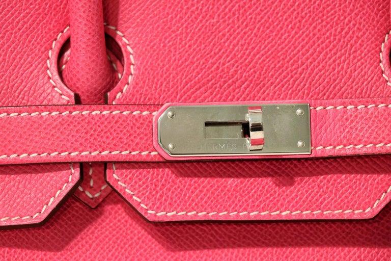 Hermès Rose Tyrien Epsom 35 cm Birkin Bag For Sale 2