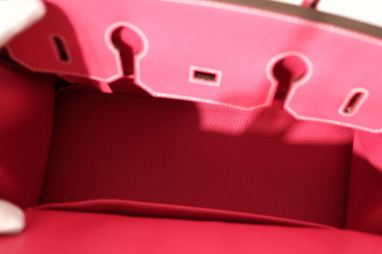 Hermès Rose Tyrien Epsom 35 cm Birkin Bag For Sale 3