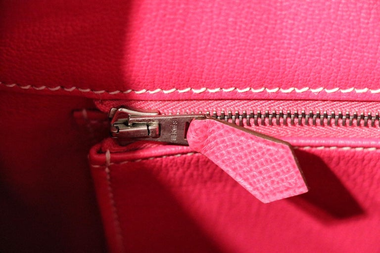 Hermès Rose Tyrien Epsom 35 cm Birkin Bag For Sale 4
