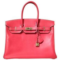 Hermès Rose Tyrien Epsom 35 cm Birkin Bag