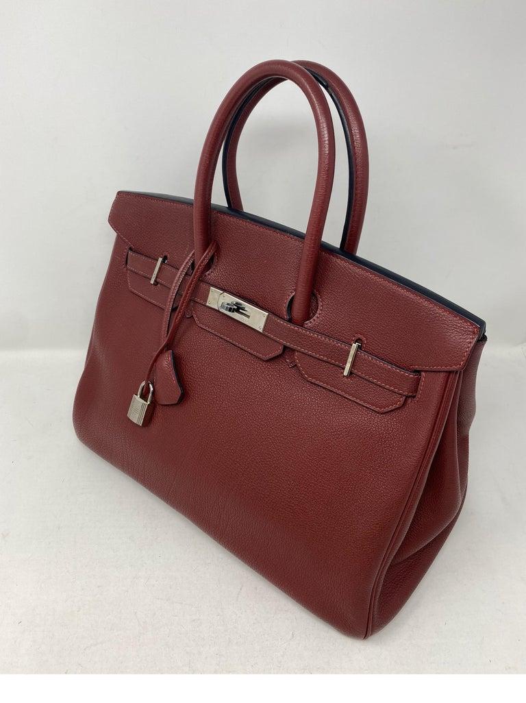 Hermes Rouge Birkin 35 Bag For Sale 5