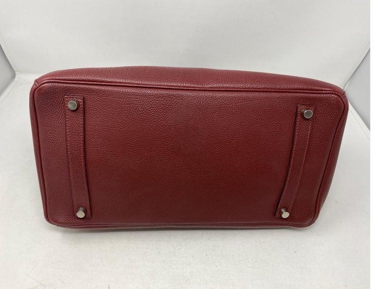 Hermes Rouge Birkin 35 Bag For Sale 6