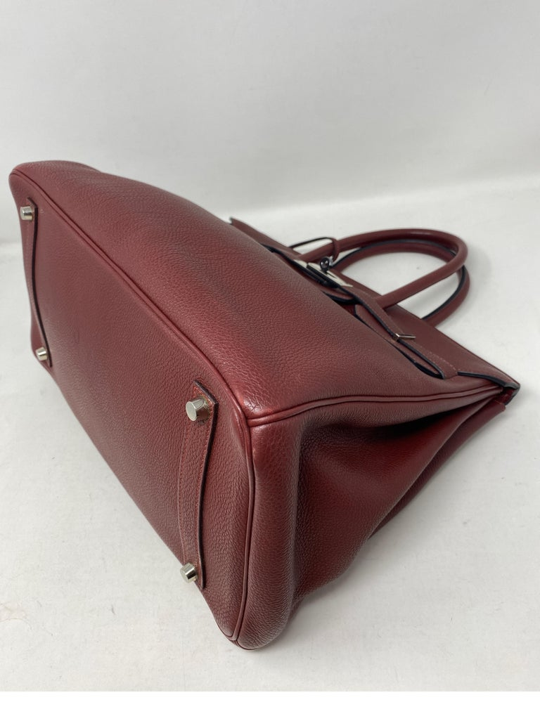 Hermes Rouge Birkin 35 Bag For Sale 7