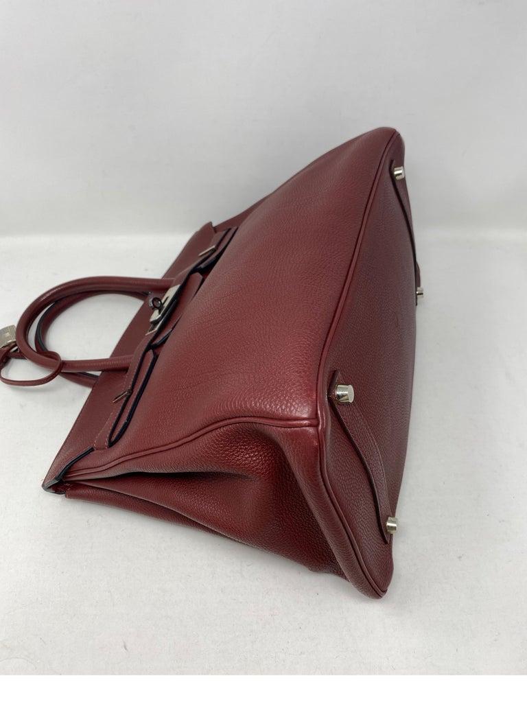 Hermes Rouge Birkin 35 Bag For Sale 8
