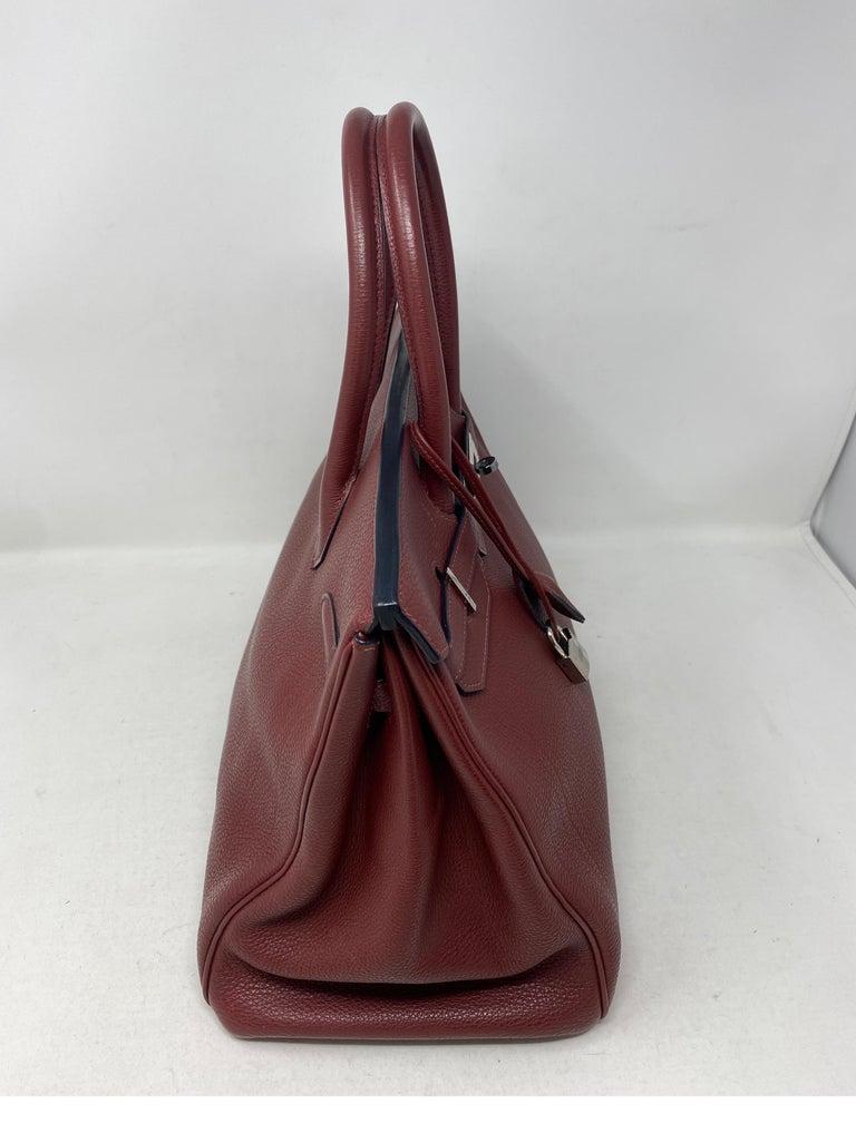 Hermes Rouge Birkin 35 Bag For Sale 9