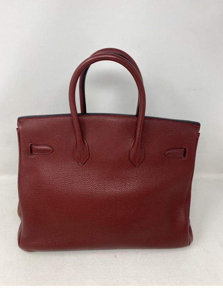 Hermes Rouge Birkin 35 Bag For Sale 10
