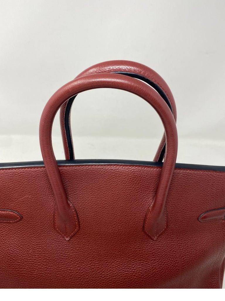 Hermes Rouge Birkin 35 Bag For Sale 11