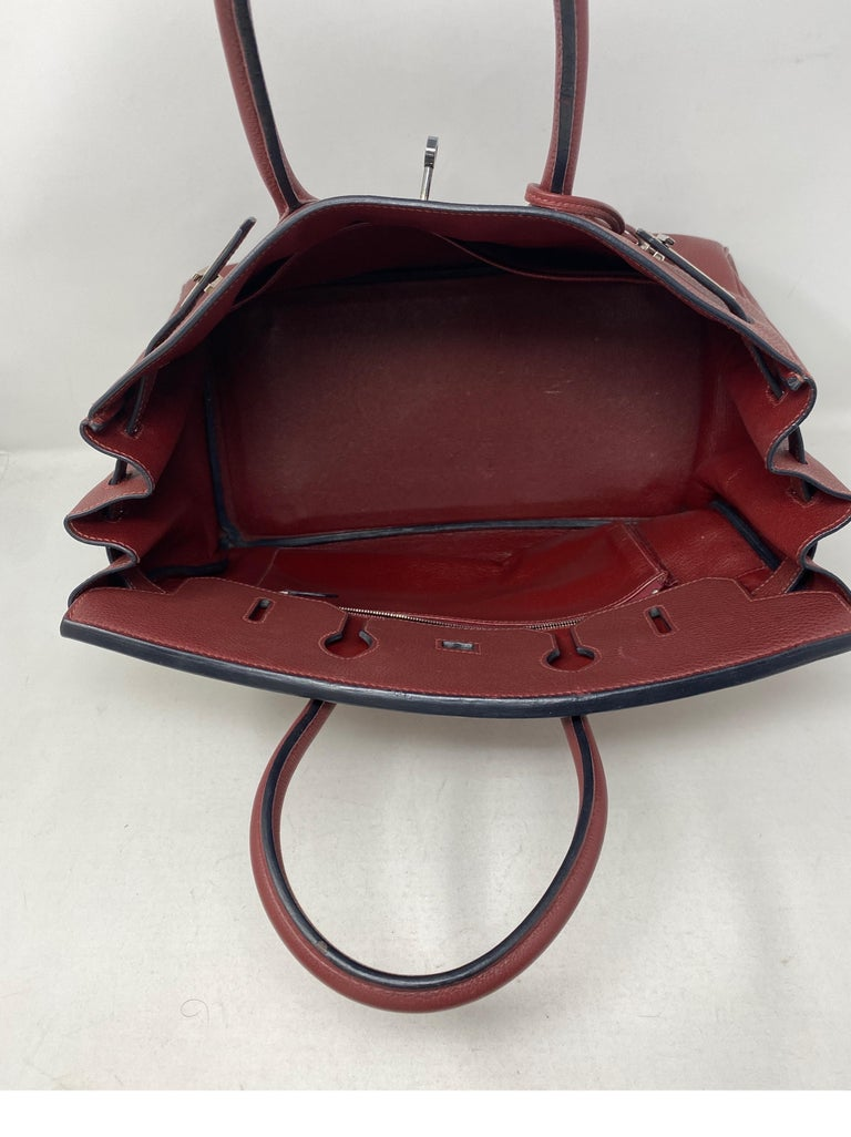 Hermes Rouge Birkin 35 Bag For Sale 1