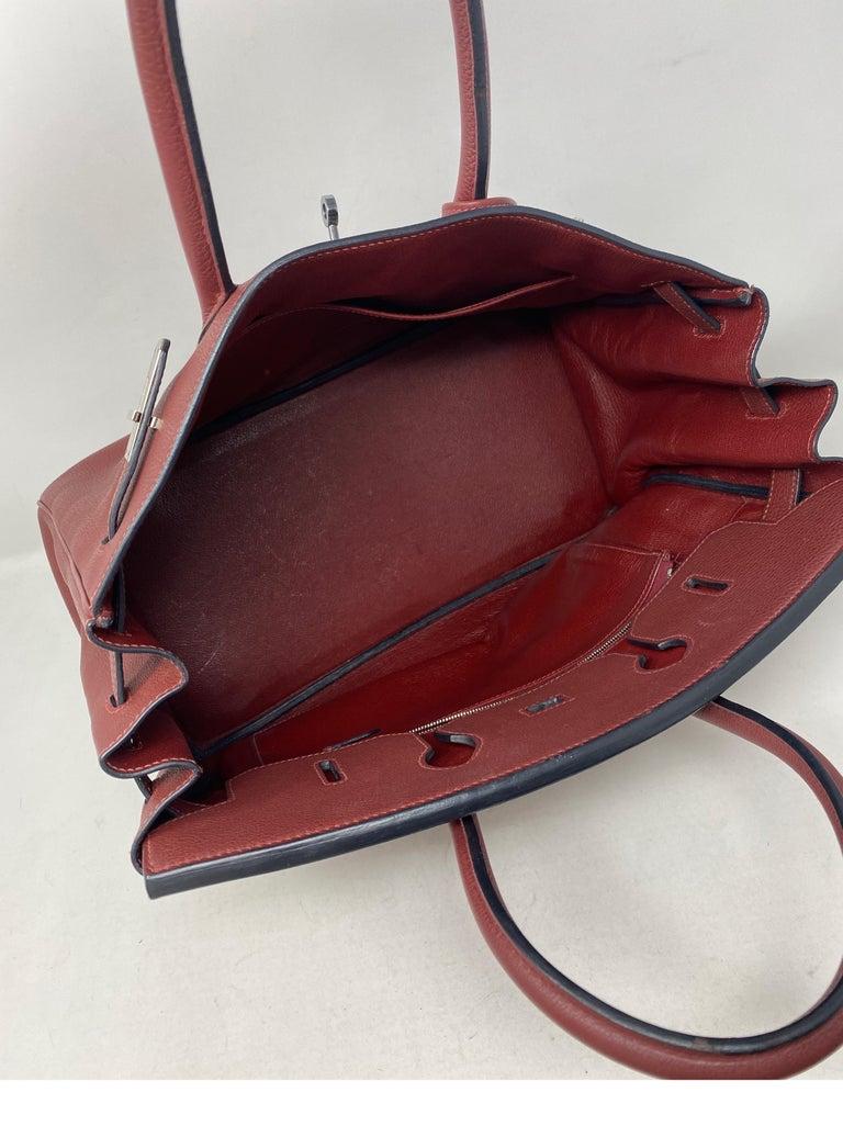 Hermes Rouge Birkin 35 Bag For Sale 2
