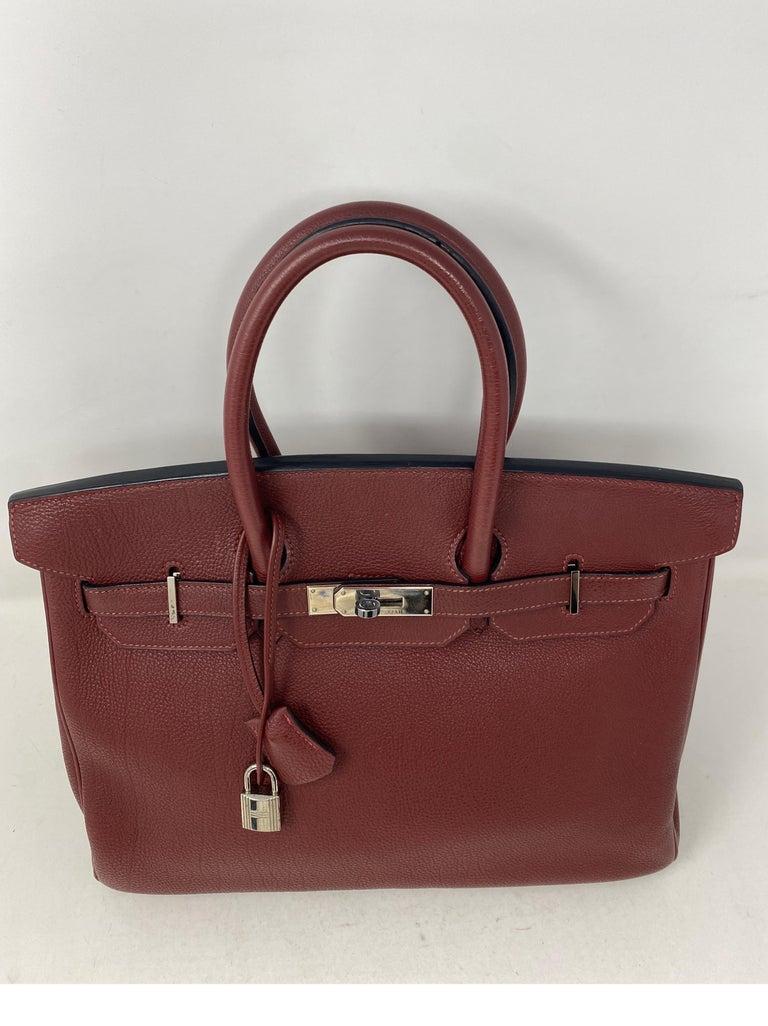 Hermes Rouge Birkin 35 Bag For Sale 3