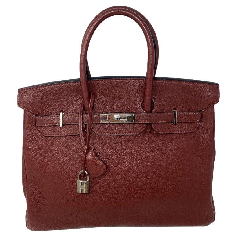 Hermes Rouge Birkin 35 Bag For Sale