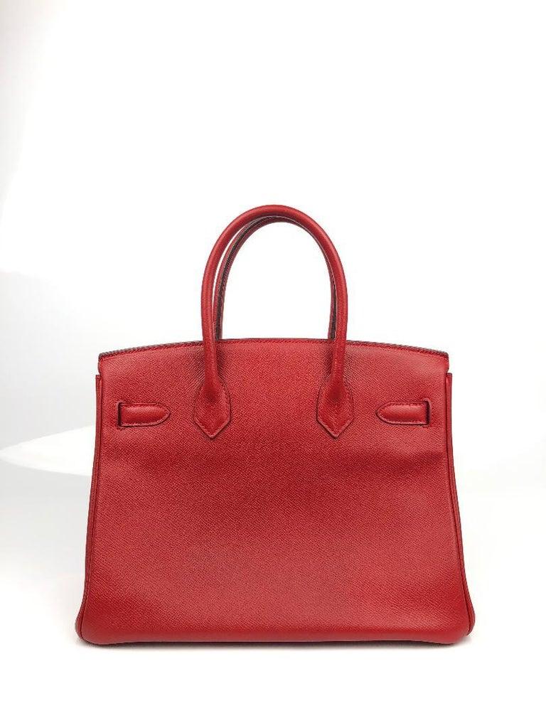 Red Hermès Rouge Casaque Epsom 30 cm Birkin Bag For Sale