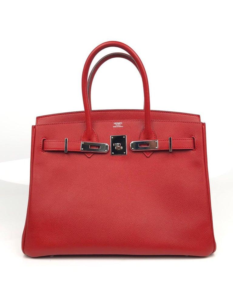 Hermès Rouge Casaque Epsom 30 cm Birkin Bag For Sale 1
