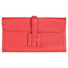 Hermès Rouge Casaque Evercolor Jige Elan 29
