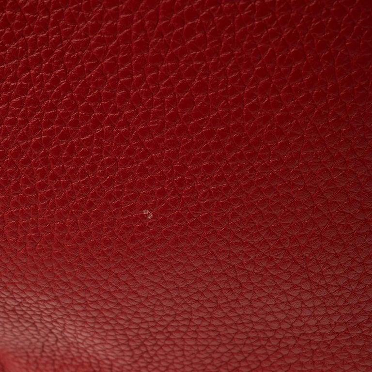 Hermes Rouge Casaque/Rose Jaipur Togo Leather Palladium Hardware So Kelly 26 Bag For Sale 6