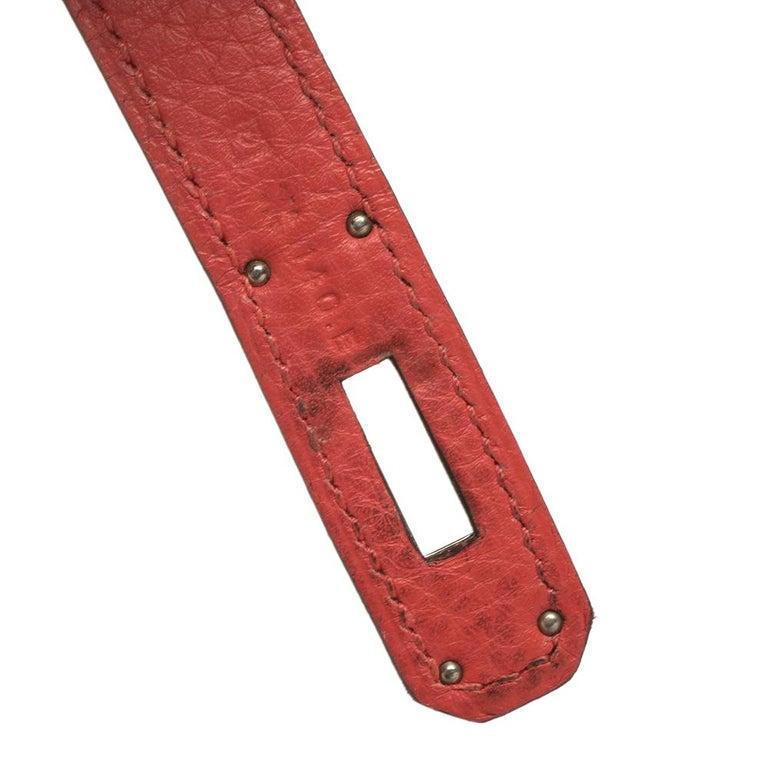 Hermes Rouge Casaque/Rose Jaipur Togo Leather Palladium Hardware So Kelly 26 Bag For Sale 9