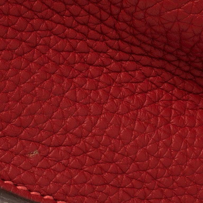 Hermes Rouge Casaque/Rose Jaipur Togo Leather Palladium Hardware So Kelly 26 Bag For Sale 11