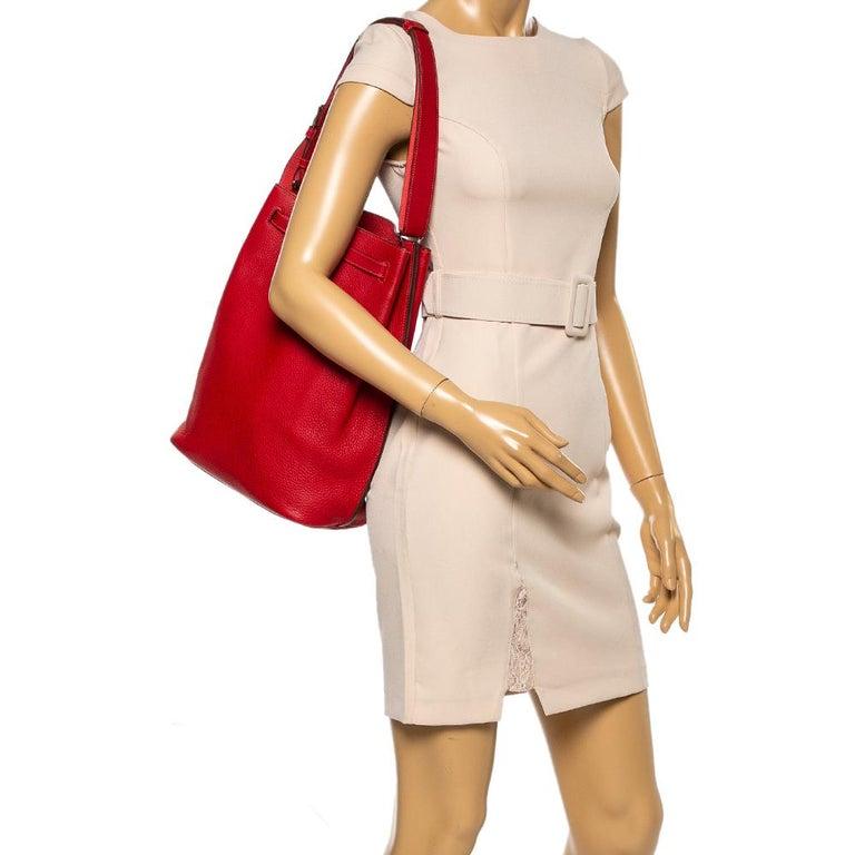 Red Hermes Rouge Casaque/Rose Jaipur Togo Leather Palladium Hardware So Kelly 26 Bag For Sale