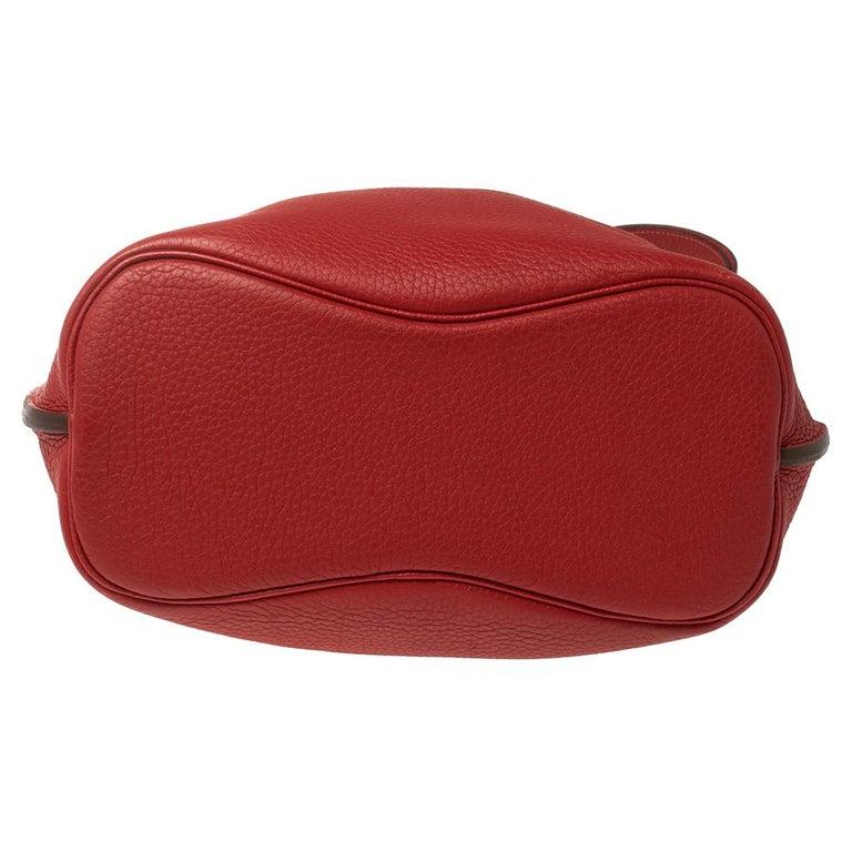 Women's Hermes Rouge Casaque/Rose Jaipur Togo Leather Palladium Hardware So Kelly 26 Bag For Sale