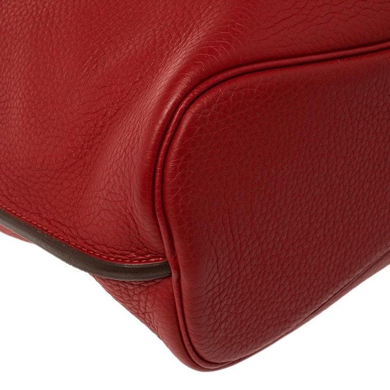 Hermes Rouge Casaque/Rose Jaipur Togo Leather Palladium Hardware So Kelly 26 Bag For Sale 1