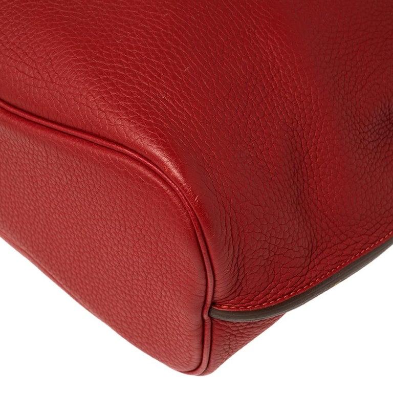 Hermes Rouge Casaque/Rose Jaipur Togo Leather Palladium Hardware So Kelly 26 Bag For Sale 2