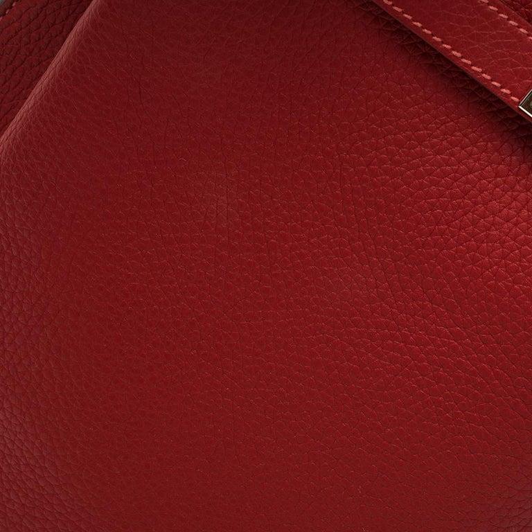 Hermes Rouge Casaque/Rose Jaipur Togo Leather Palladium Hardware So Kelly 26 Bag For Sale 3
