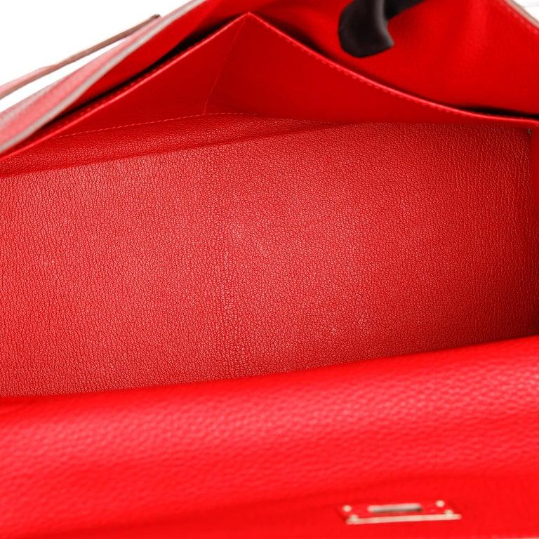Hermès Rouge Casaque Togo Leather Kelly 35cm  For Sale 5