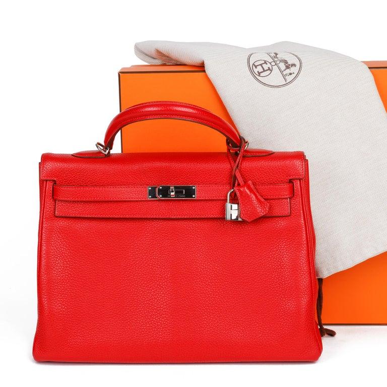 Hermès Rouge Casaque Togo Leather Kelly 35cm  For Sale 6