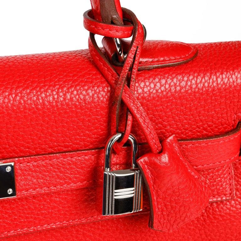 Hermès Rouge Casaque Togo Leather Kelly 35cm  For Sale 7