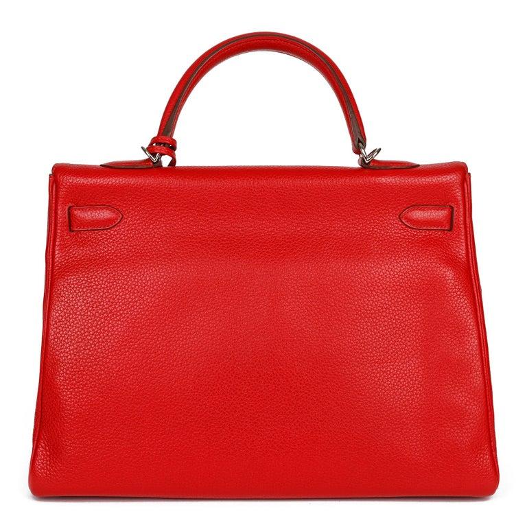 Women's Hermès Rouge Casaque Togo Leather Kelly 35cm  For Sale