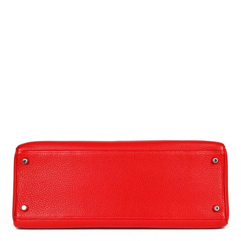 Hermès Rouge Casaque Togo Leather Kelly 35cm  For Sale 1