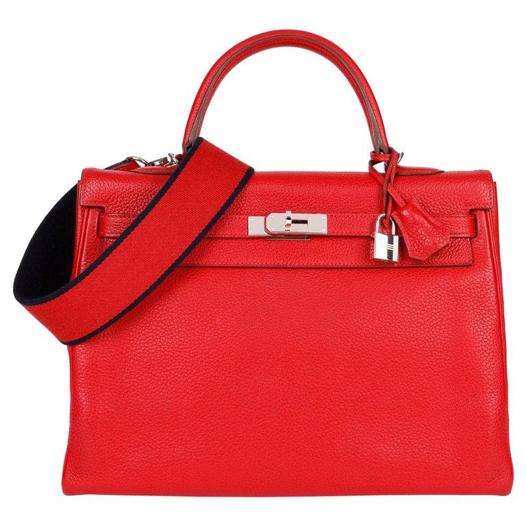 Hermès Rouge Casaque Togo Leather Kelly 35cm  For Sale