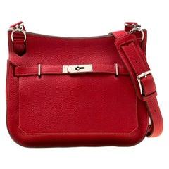 Hermes Rouge Garance Togo Leather Jypsiere 28 Bag