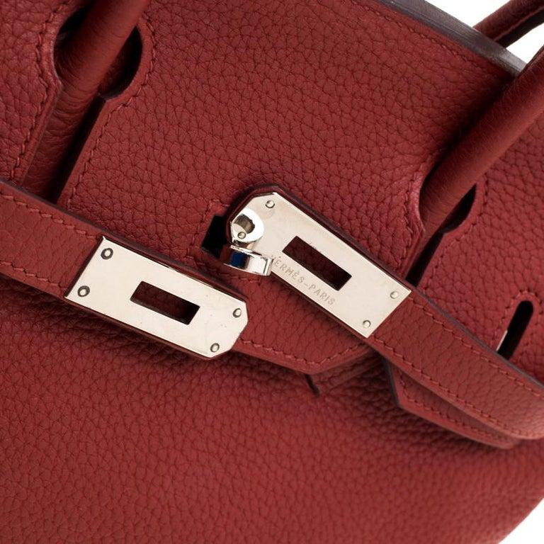 Hermes Rouge Grenat Togo Leather Palladium Hardware Birkin 30 Bag 1